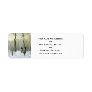 Riders In The Snow In The Haagse Wood, Anton Mauve Label at Zazzle