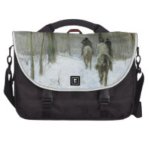 Riders in the Snow in the Haagse Wood, Anton Mauve Computer Bag  at Zazzle