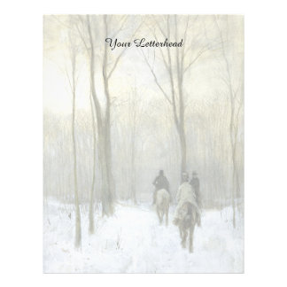 Riders in the Snow in the Haagse Wood, Anton Mauve Letterhead