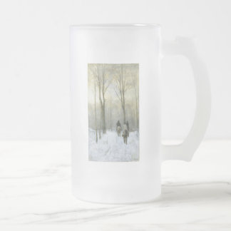 Riders in the Snow in the Haagse Wood, Anton Mauve Beer Mugs