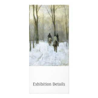 Riders in the Snow in the Haagse Wood, Anton Mauve Personalized Rack Card