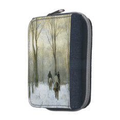 Riders In The Snow In The Haagse Wood, Anton Mauve Wallet at Zazzle