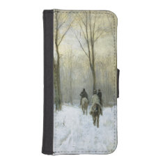 Riders in the Snow in the Haagse Wood, Anton Mauve Wallet Phone Case For iPhone SE/5/5s at Zazzle