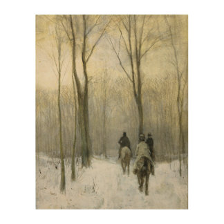 Riders in the Snow in the Haagse Wood, Anton Mauve Wood Wall Decor
