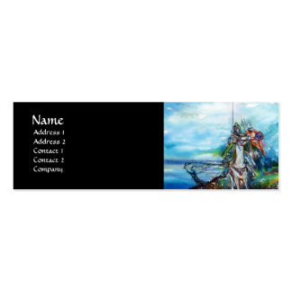 RIDERS IN THE STORM black white blue Mini Business Card
