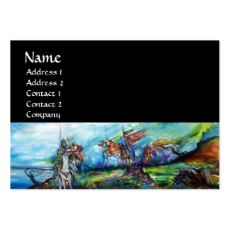 RIDERS IN THE STORM black white blue purple brown Large Business Card