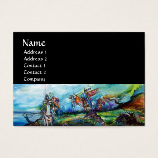 RIDERS IN THE STORM,bright blue red,black Business Card