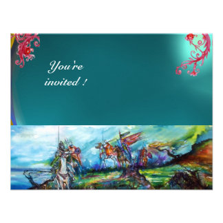 RIDERS IN THE STORM gem blue Custom Invitation