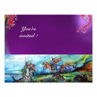 RIDERS IN THE STORM gem purple Invitations