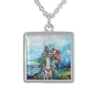 RIDERS IN THE STORM KNIGHTS TEMPLAR SQUARE PENDANT NECKLACE