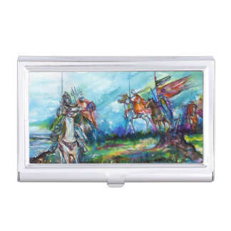 RIDERS IN THE STORM Medieval Knights Business Card Holder