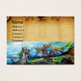 RIDERS IN THE STORM parchment Business Card