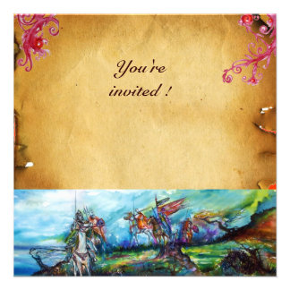 RIDERS IN THE STORM parchment Custom Invite