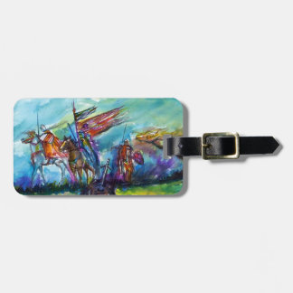 RIDERS IN THE STORM Parchment Luggage Tag