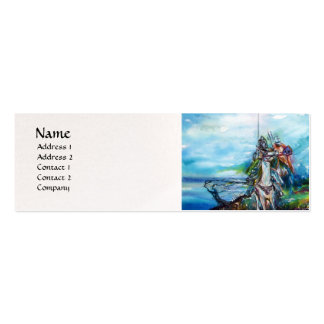 RIDERS IN THE STORM pearl paper Double-Sided Mini Business Cards (Pack Of 20)