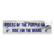 Riders of the Purple Sage. Bumper Sticker