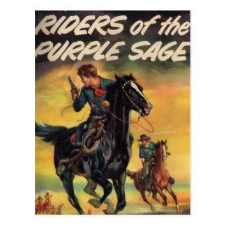 Riders of the Purple Sage Postcard