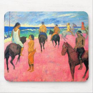 Riders on beach horsemen horses art by Gauguin Mouse Pad