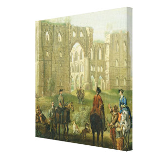Riders Pausing by the Ruins of Rievaulx Abbey, c.1 Canvas Print