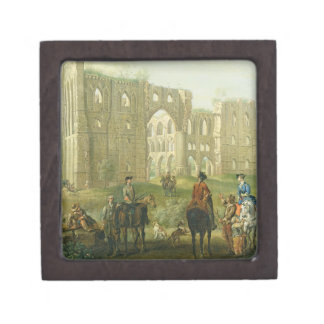 Riders Pausing by the Ruins of Rievaulx Abbey, c.1 Gift Box