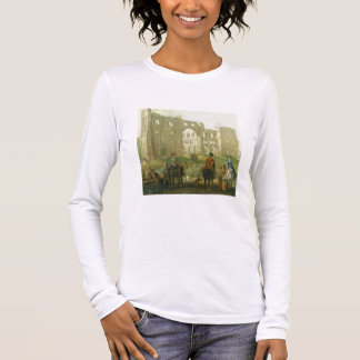 Riders Pausing by the Ruins of Rievaulx Abbey, c.1 Long Sleeve T-Shirt