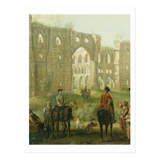 Riders Pausing by the Ruins of Rievaulx Abbey c 1 Postcards
