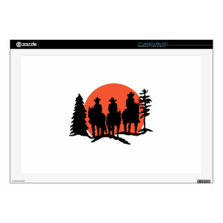 Riders Silhouette Decal For Laptop