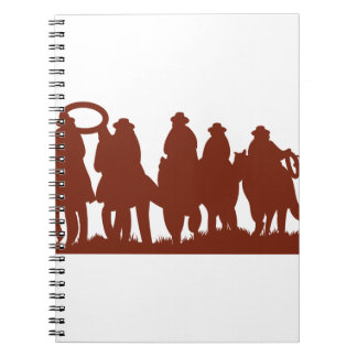 Riders Silhouette Spiral Note Book