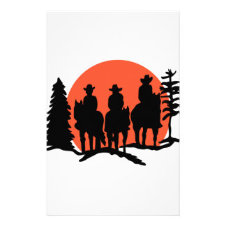 Riders Silhouette Stationery