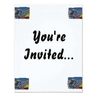 Rides against a blue sky 4.25x5.5 paper invitation card