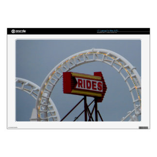 """Rides and Roller Coaster Decal For 17"""" Laptop"""