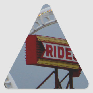 Rides and Roller Coaster Triangle Sticker