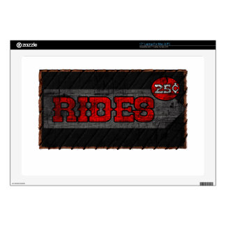 """Rides Decal For 17"""" Laptop"""
