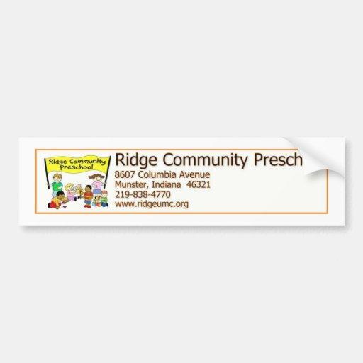 Ridge Community Preschool Car Bumper Sticker
