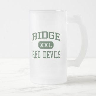 Ridge - diablos rojos - alto - Ridge que toma el s Taza Cristal Mate