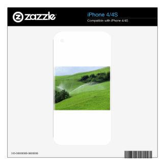 Ridge en pasto alpino con las regaderas de la skins para iPhone 4