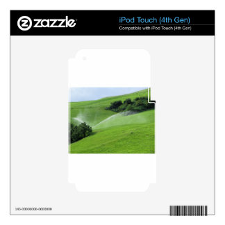 Ridge on alpine pasture with grass sprinklers iPod touch 4G decals