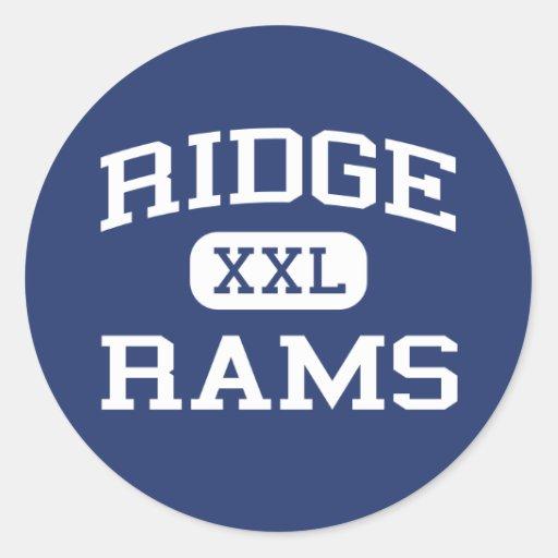 Ridge - Rams - Junior High School - Mentor Ohio Round Sticker