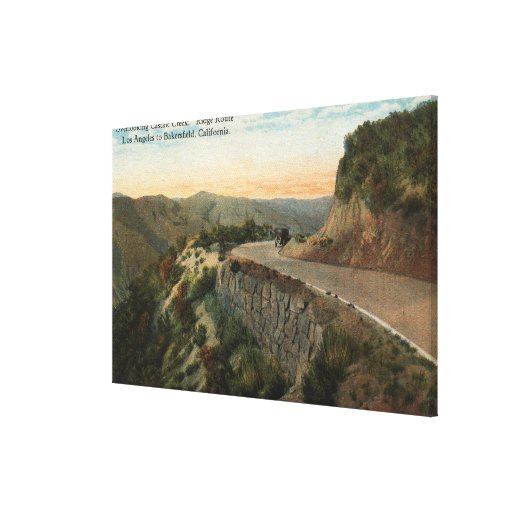 Ridge Route, Overlooking Castaic Creek Canvas Print