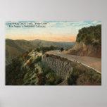 Ridge Route, Overlooking Castaic Creek Poster