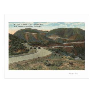 Ridge Route to Swede's Cut & Bakersfield Postcard