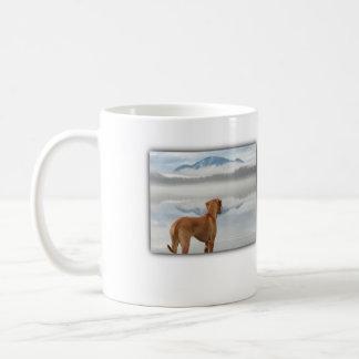 Ridgeback in the mist coffee mug