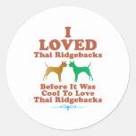 Ridgeback tailandés pegatina redonda