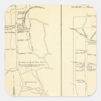 Ridgefield, Newton, Darien Pegatina Cuadrada