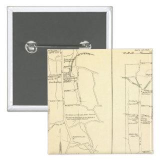 Ridgefield, Newton, Darien Pin Cuadrada 5 Cm