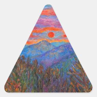 Ridgeland Winter Beauty Triangle Stickers