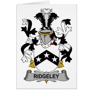 Ridgeley Family Crest Card