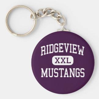 Ridgeview - Mustangs - Senior - Colfax Illinois Basic Round Button Keychain