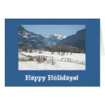 Ridgway Valley Winter Photo Holiday Card