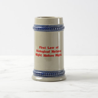 Ridicules idea of natural law beer stein